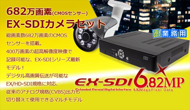 EX-SDI 400万画素 カメラと DVRのフルセット