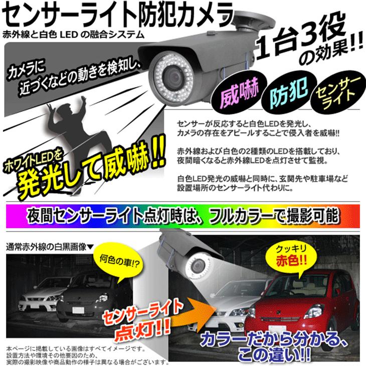 警告ボイス センサーライト防犯カメラ