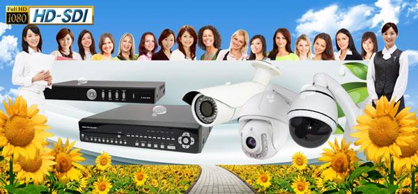 200種類以上の防犯カメラと30種類以上のビデオレコーダーから選んでください。