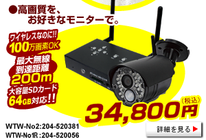 WTW-No2 100万画素無線カメラ第二弾