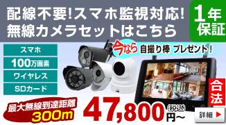 100万画素無線カメラ TTC-No1シリーズ、詳細はこちら