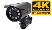 4K 800万画素 PoE搭載 IPカメラで屋外・夜間35m・寒冷地仕様 2.8〜12mm バリホーカルタイプを製造しました。