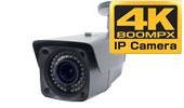 4K 800万画素 PoE搭載 IPカメラで屋外・夜間35m・寒冷地仕様 2.8~12mm バリホーカルタイプを製造しました。