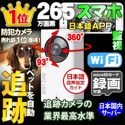 ペット監視の追跡カメラ WTW-IPW108Jが 楽天とYahooで 売れ筋 1位獲得
