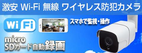 激安 自社開発 自社工場生産日本製 ワイヤレス 屋外 WIFI 防犯カメラ