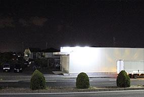 136万画素低照度高感度AHDカメラ 夜間映像