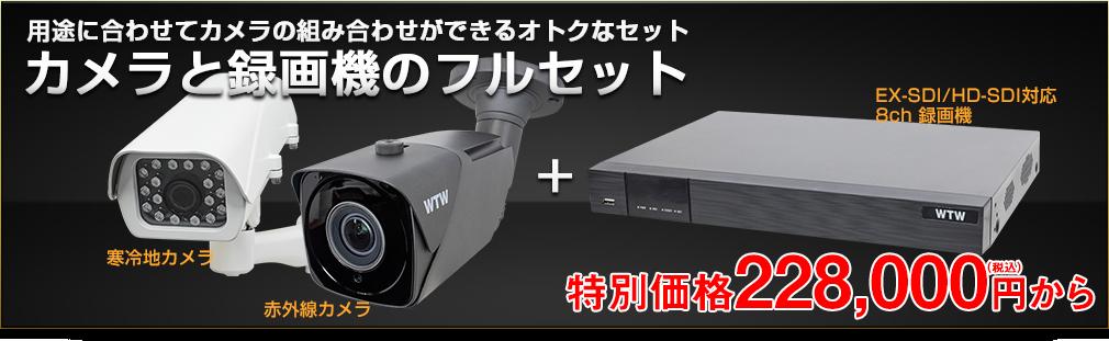 自社開発製造の日本製  プロ御用達!! 4K 800万画素 EX-SDI 防犯カメラと HD-DVRのフルセット【800万画素】