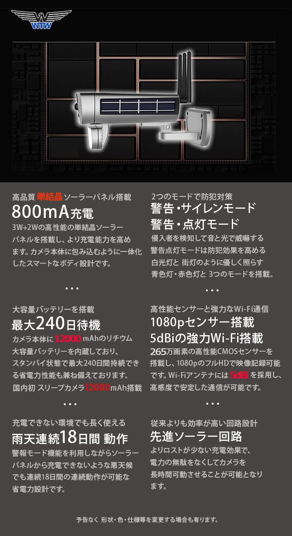 WTW WIFI ソーラー 業務用 防犯カメラ カタログ2